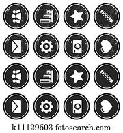 Website navigation retro labels