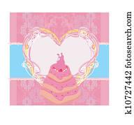 wedding cake card design