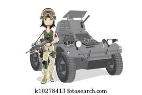 weiblich, soldat
