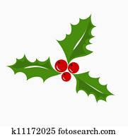 weihnachten, christdornbeere