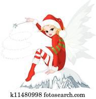 weihnachten, fee