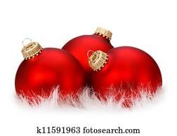 Weihnachtsbilder Mit Kugeln.Drei Blau Weihnachten Kugeln In Dass Schnee Freigestellt