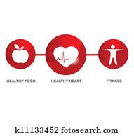 Wellness and medical symbol