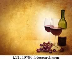 Wine Glass Celebration Background A