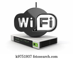 Wireless Router and sign of wifi