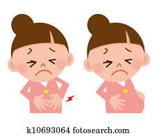 woman stomachache/birth