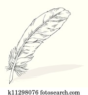 writing feather