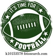 zeit, für, football, briefmarke