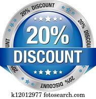 20 discount blue silver button