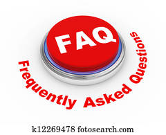 3d Faq button