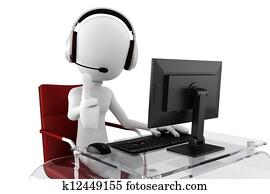3d man call center ready to help
