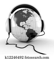 3d online call center concept