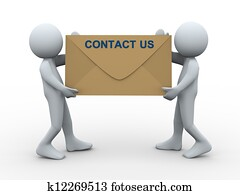 3d people contact us envelope