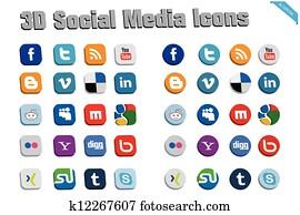 3d, soziales, medien, heiligenbilder