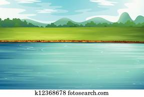 A river and a beautiful landscape