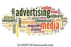 Advertising word in tag cloud
