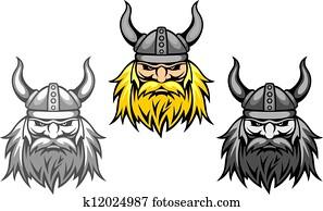 Agressive viking warriors