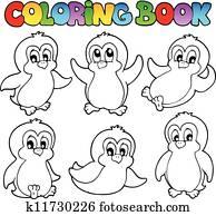 Clipart Ausmalbilder Skaten Pinguine K7967675 Suche Clip Art