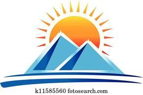 bergwelt, logo, vektor