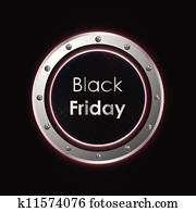 black friday plasma background with metallic design
