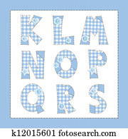 Clipart Of Pink Fabric Alphabet Letters K L M N O P Q R S