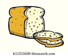 bread, gekritzel