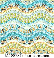 buntes, ethnicity, ornament,, vektor, seamless, pattern.