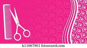 business card for hair salon