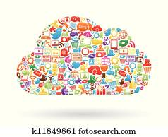 Cloud Computing Collage Color