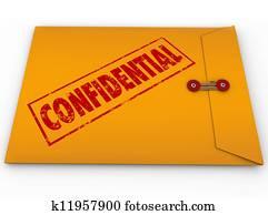 Confidential Classified Envelope Secret Information
