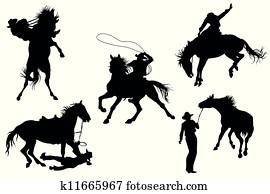 Cowboys silhouettes