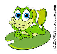 Cute Frog On A Lily Pad
