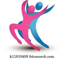 Dancer figures logo