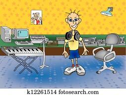 DJ in the studio