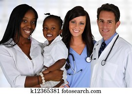 Doctors and Nurse With Patient