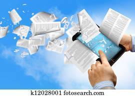 e book reader and books