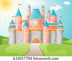 Fairy Tale castle illustration.