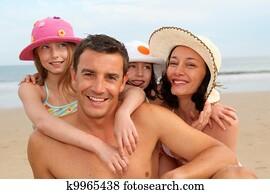 Family vacation at the beach