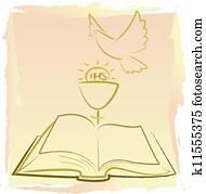 first holy communion - holy spirit