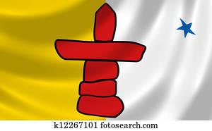 Flag of Canadian Nunavut territory