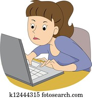 Girl Writer Typing Fast