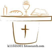 holy communion - altar and religiou