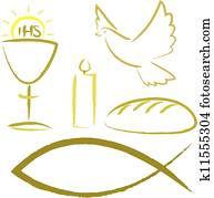 holy communion - religious symbols