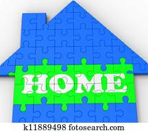 Home House Shows Residential Property