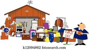 huge yard and garage sale