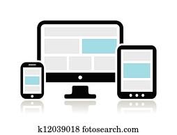 interessiert, design, für, web-, edv
