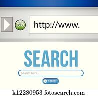 Internet Search engine browser window