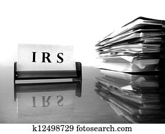 IRS Card with Tax Files