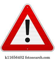 Isolated Alert Triangle Sign