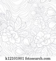 Jasmine floral vector pattern